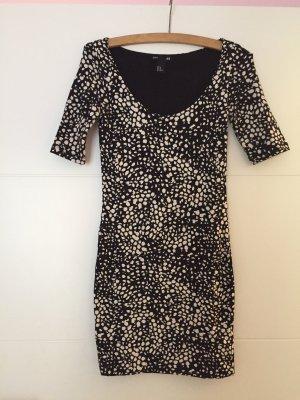 Kleid schwarz mit print
