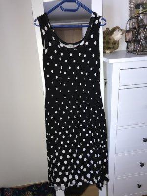 Kleid schwarz mit weißen Punkten
