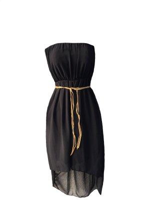 Kleid schwarz schlicht vokuhila