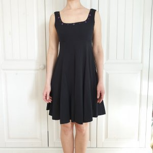 Kleid Schwarz sommerkleid dress partykleid Taille 40 Made in France rock Oberteil top tunika