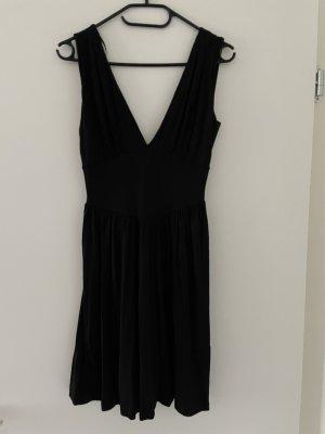 Kleid   schwarz   tiefer V-Ausschnitt   Größe 36   H&M