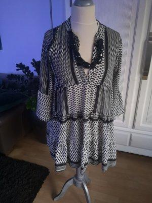 Kleid schwarz weiss