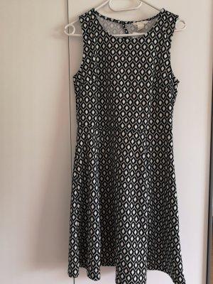 Kleid schwarz-weiss