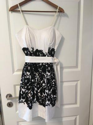 Kleid schwarz weiß Gr L neu