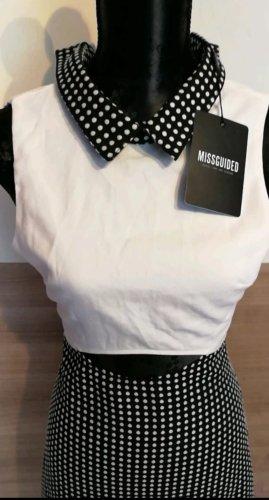 Kleid Schwarz/Weiß von Missguided xs/34