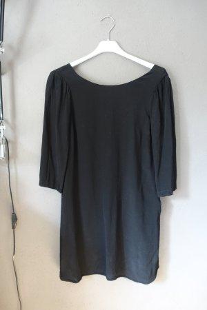 Kleid, See U Soon, Gr. 0, schwarz, Rückenausschnitt, schlicht, mit Taschen