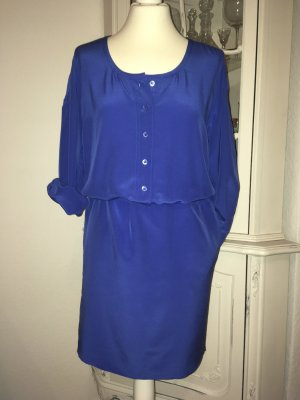 Strenesse Vestido tipo blusón azul Seda