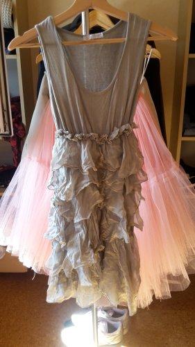 Kleid Seide Minikleid Volant