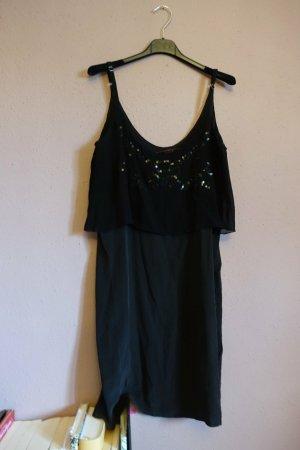 Sack's Pinafore dress black silk