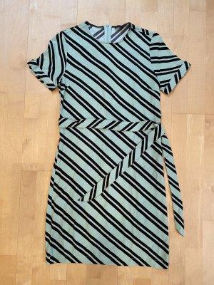 Selected Sukienka z krótkim rękawem czarny-miętowy