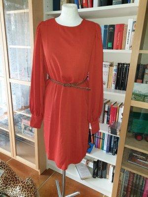 Kleid Selected Femme Gr. S-M Midikleid Minikleid rostbraun