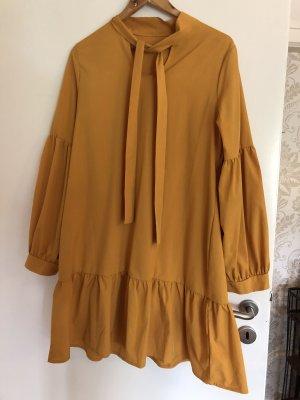Kleid senffarben