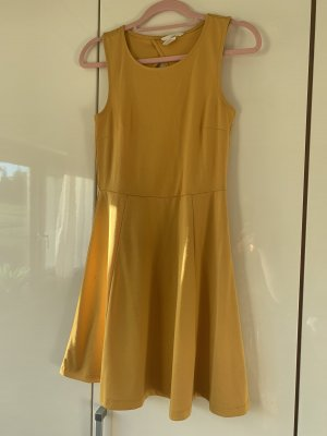 H&M A Line Dress gold orange-yellow