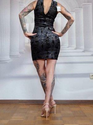 Miss Selfridge Suknia wieczorowa czarny-srebrny
