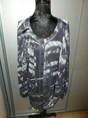Kleid Shirt Bluse grau weiß Biba Crisca