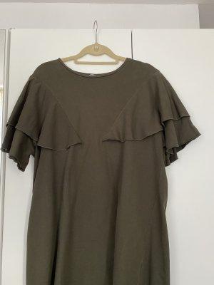 Kleid Shirtkleid Zara Gr.L guter Zustand Khaki sexy kurz Hingucker