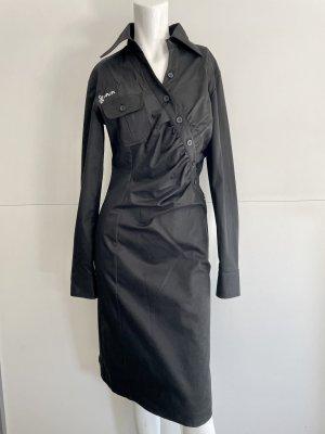 Skunkfunk Robe à manches longues noir coton