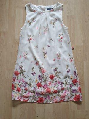 Kleid • Sommer • ärmellos • Blumenprint • A-Linie • Größe 38  NEU