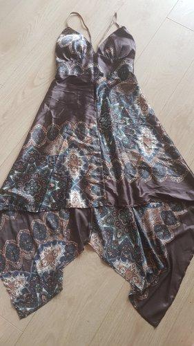 kleid sommer braun paisley vokuhila