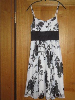 Kleid – Sommer – Cocktail/Party – weiß/schwarz – Gr. 34