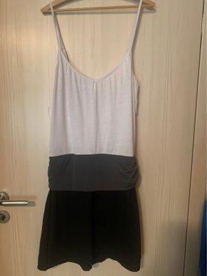 Kleid Sommer Spaghettiträger Gr M L weiß schwarz