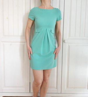 Kleid Sommerkleid 32 XS türkis grün blau babydoll vintage Dress Rock motivi