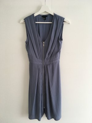 H&M Vestido camisero gris-gris pizarra