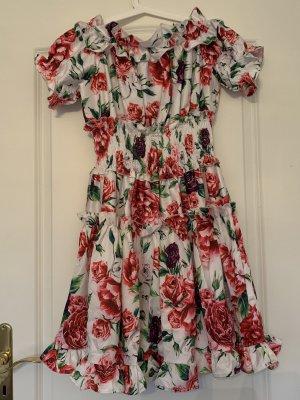 Kleid, Sommerkleid, Blumendesign, Blüten, Rosen, Gr. 36, Neu