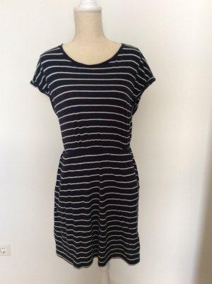 Kleid, Sommerkleid, dunkelblau-weiß gestreift, H&M, Gr.S/36