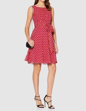 Kleid Sommerkleid Esprit 36 rot weiß Punkte Neu