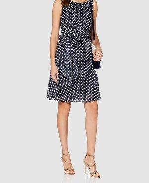 Kleid Sommerkleid Esprit blau weiß Punkte 36 Neu