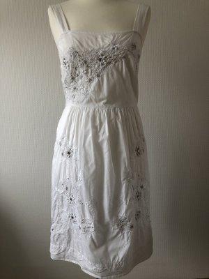 Kleid Sommerkleid in Weiß, Gr. 36