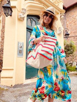 0039 Italy vestido de globo multicolor Algodón