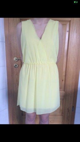 Kleid Sommerkleid von Zara Groesse L pastell Hellgelb