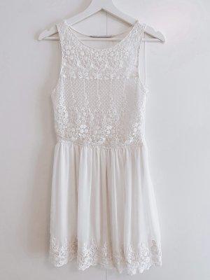 Kleid / Sommerkleid Zara XS weiß