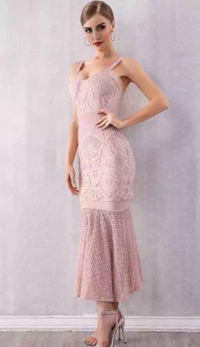 Kleid spitze Bodycon rosa S