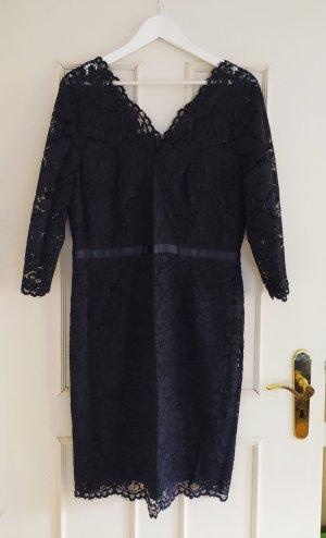 Kleid Spitze Esprit Nacht - Blau