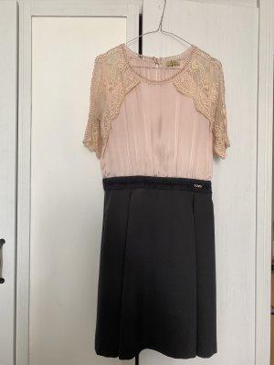 Kleid spitze rosa schwarz liu jo