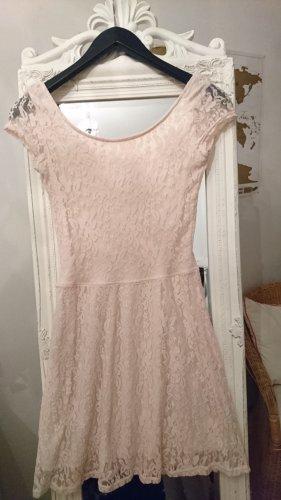 Kleid Spitze Rückenausschnitt puderrosa rosé S 36