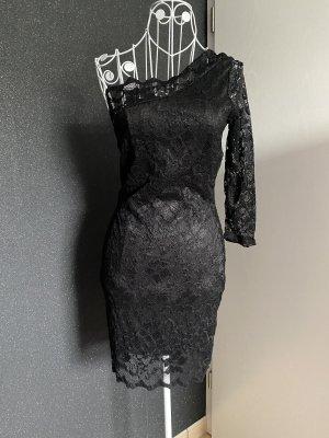 Kleid spitze schwarz Gr XS S Neu Ein schulter