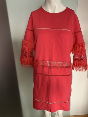 River Island Fringed Dress pink
