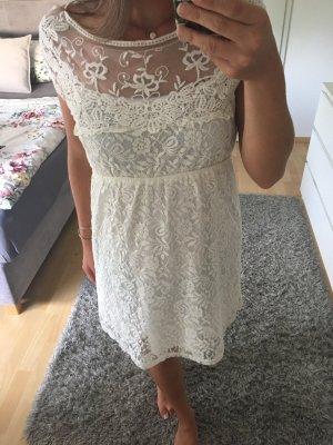 Kleid Spitzenkleid Boho Vintage XS/S 34/36