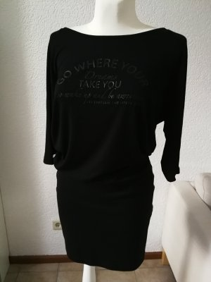 Tramontana Vestido estilo camisa negro-blanco Viscosa