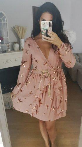 Kleid Stern rosa rosegold blogger hipster boho