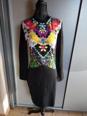 Kleid Stoffkleid schwarz bunt H&M