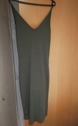 Stradivarius Stretch jurk khaki