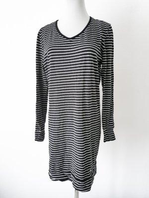 H&M Abito felpa bianco-nero