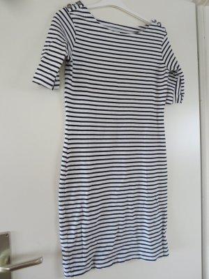 Kleid Streifen schwarz-weiß