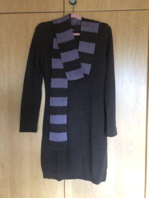 Kleid Strick mit Schal Gr, 36/38