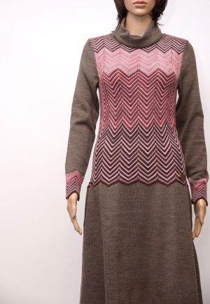 Kleid, Strickkleid, S, Gr.36, braun/rosa, Neu